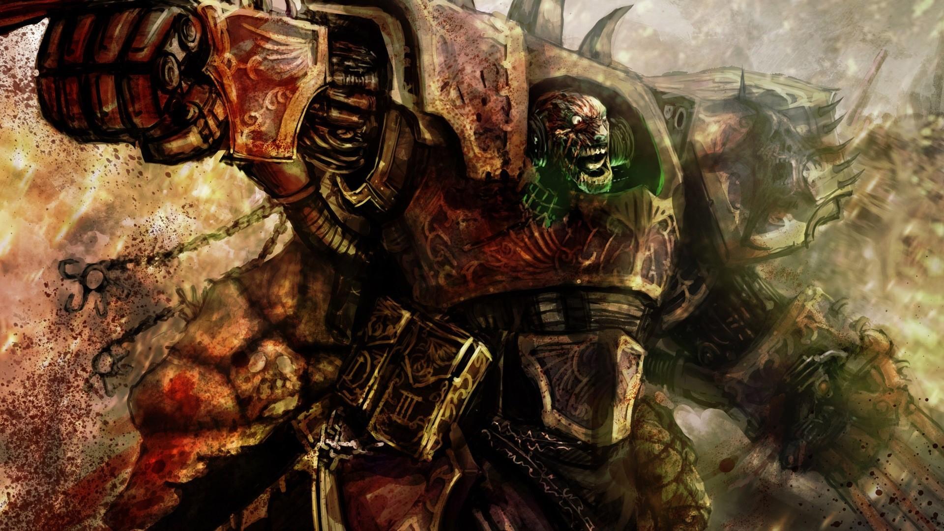 Artwork chaos space marine Warhammer 40k wallpaper | .