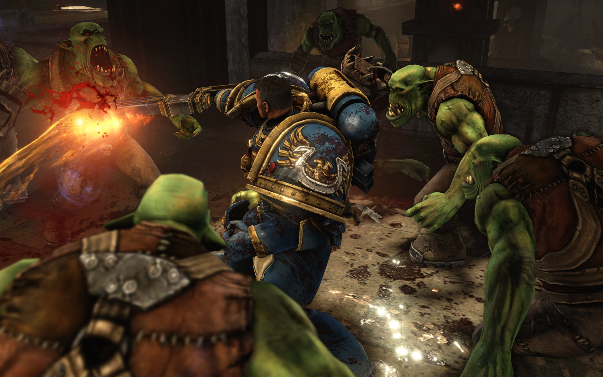 Warhammer 40K Space Marine single player screenshot