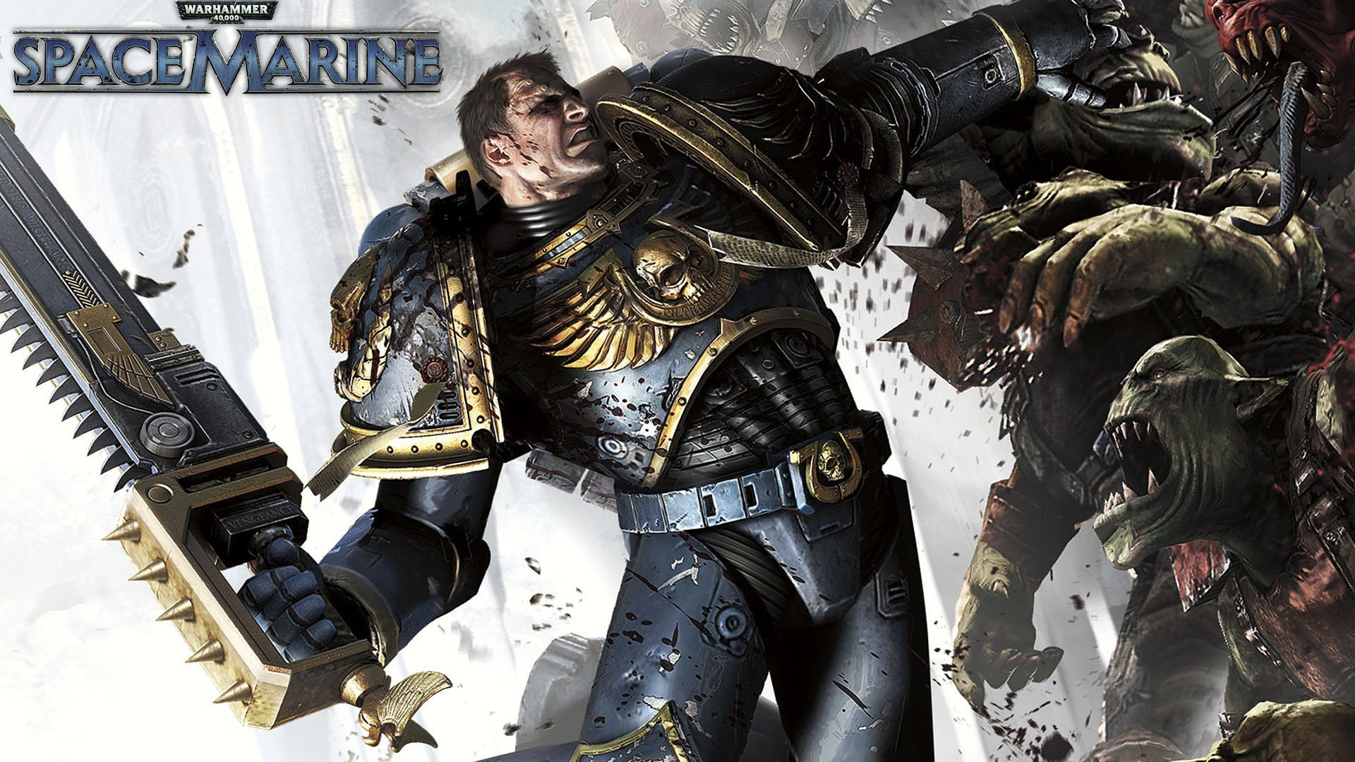 chainsword imperium orks space_marine(game) space_marines ultra-vs-orks  ultramarines wallpaper Warhammer 40k …