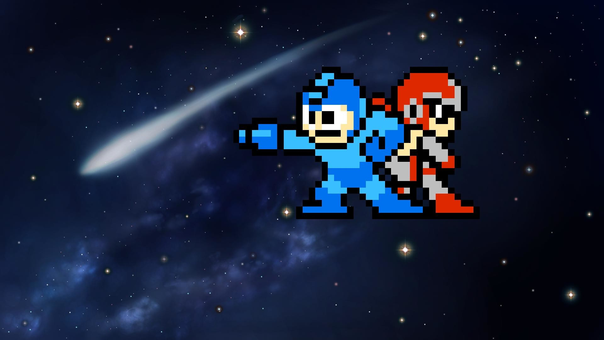 Images For > Megaman Wallpaper 8 Bit