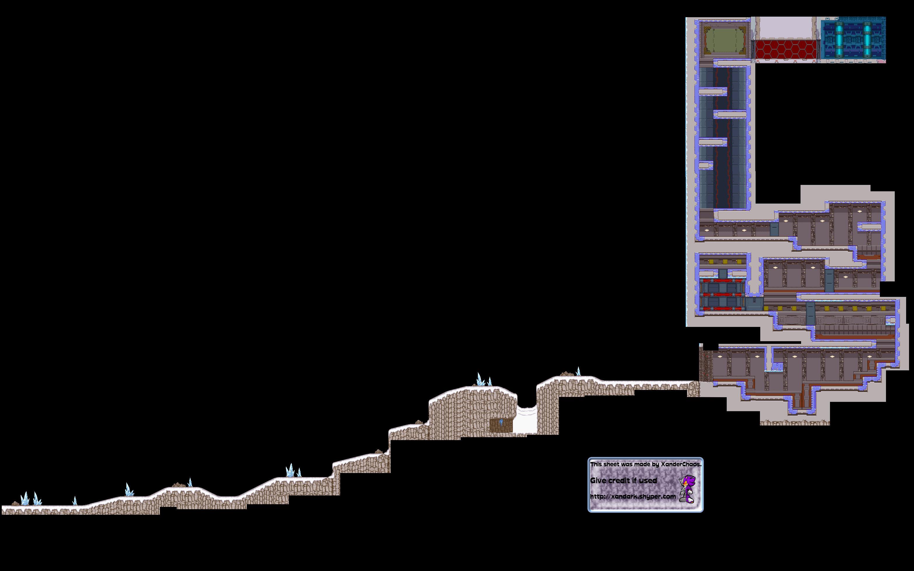 Mega Man Zero 3 – Backgrounds – Introduction Level