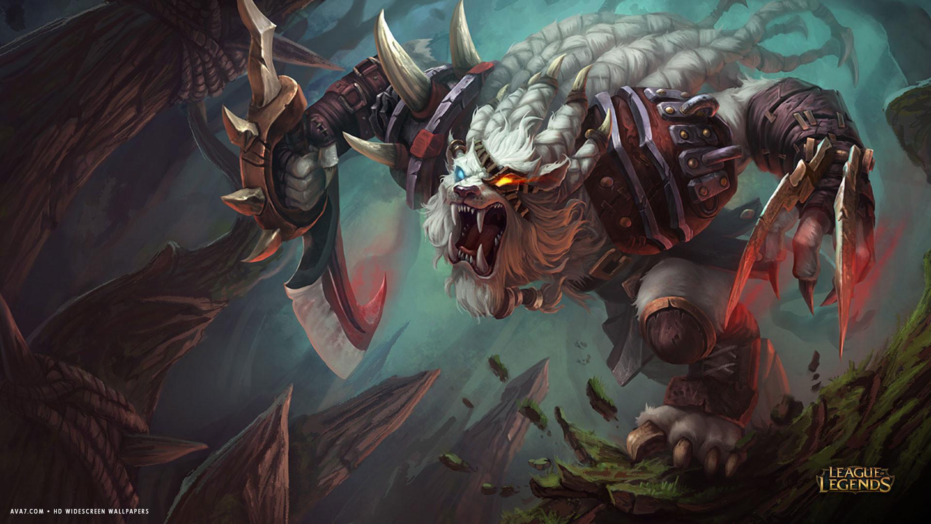 league of legends game lol rengar monster hd widescreen wallpaper .