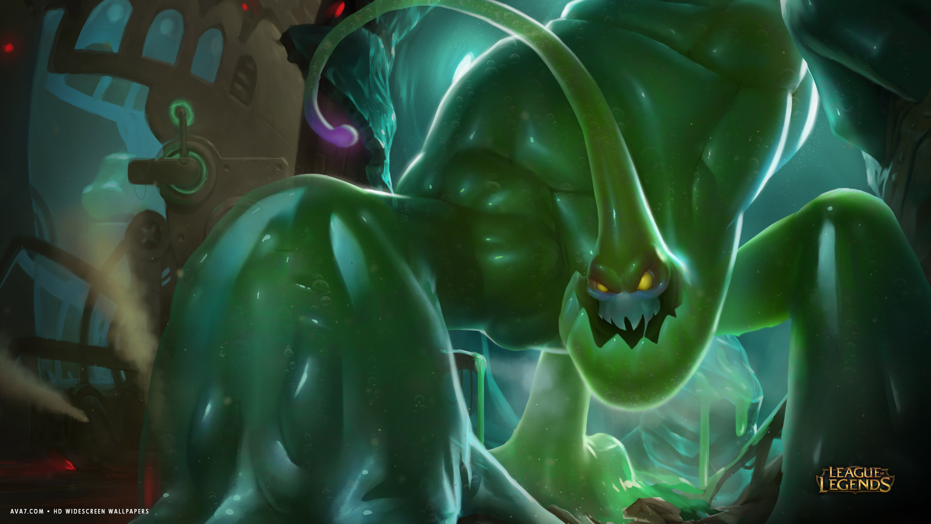 league of legends game lol zac green monster hd widescreen wallpaper
