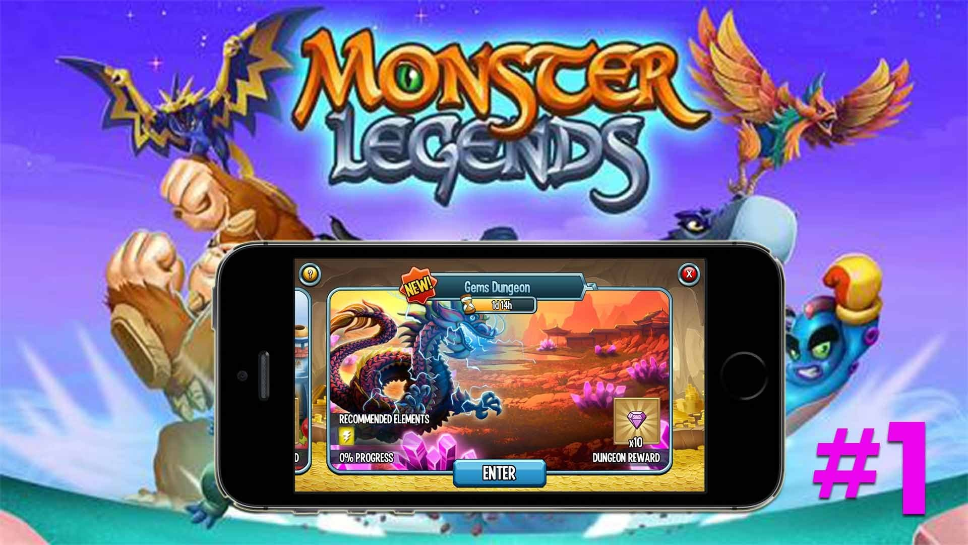 Monster Legends – Gems Dungeon Part #1 on Mobile IOS