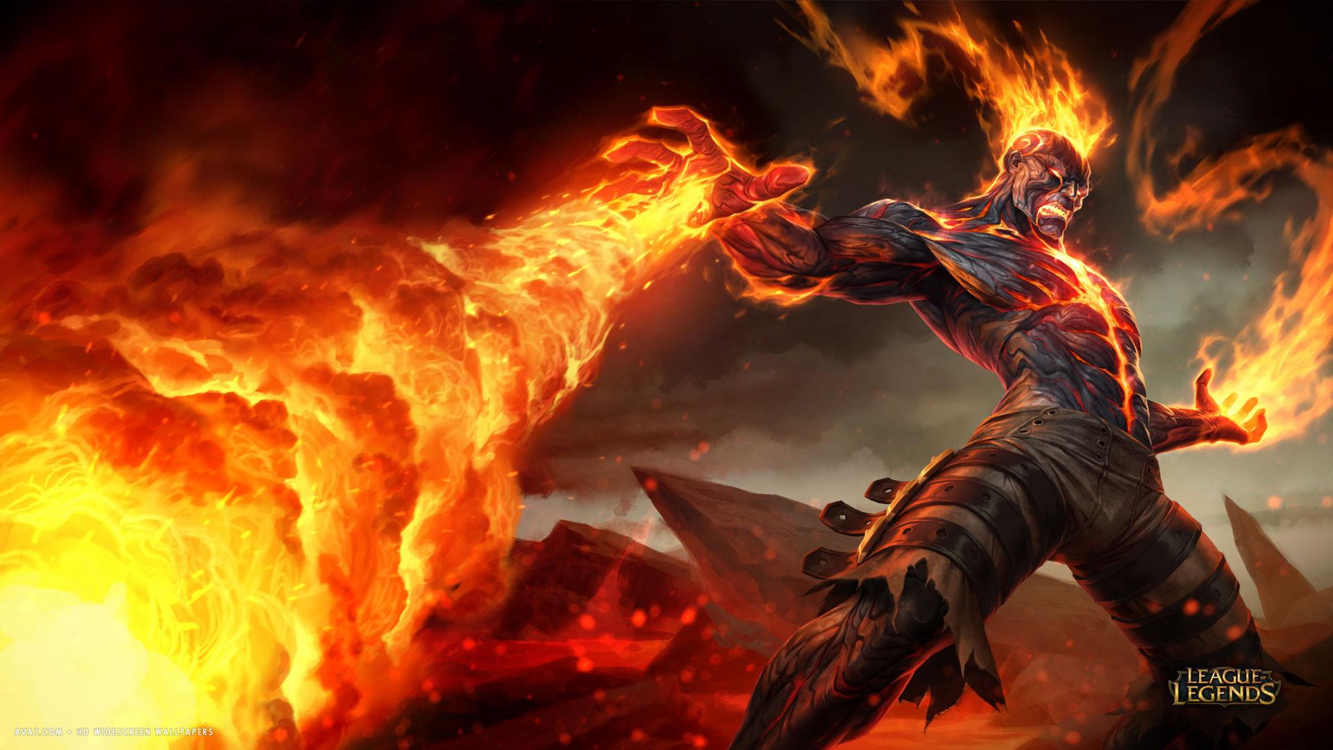 … league of legends game lol brand fire flames magic