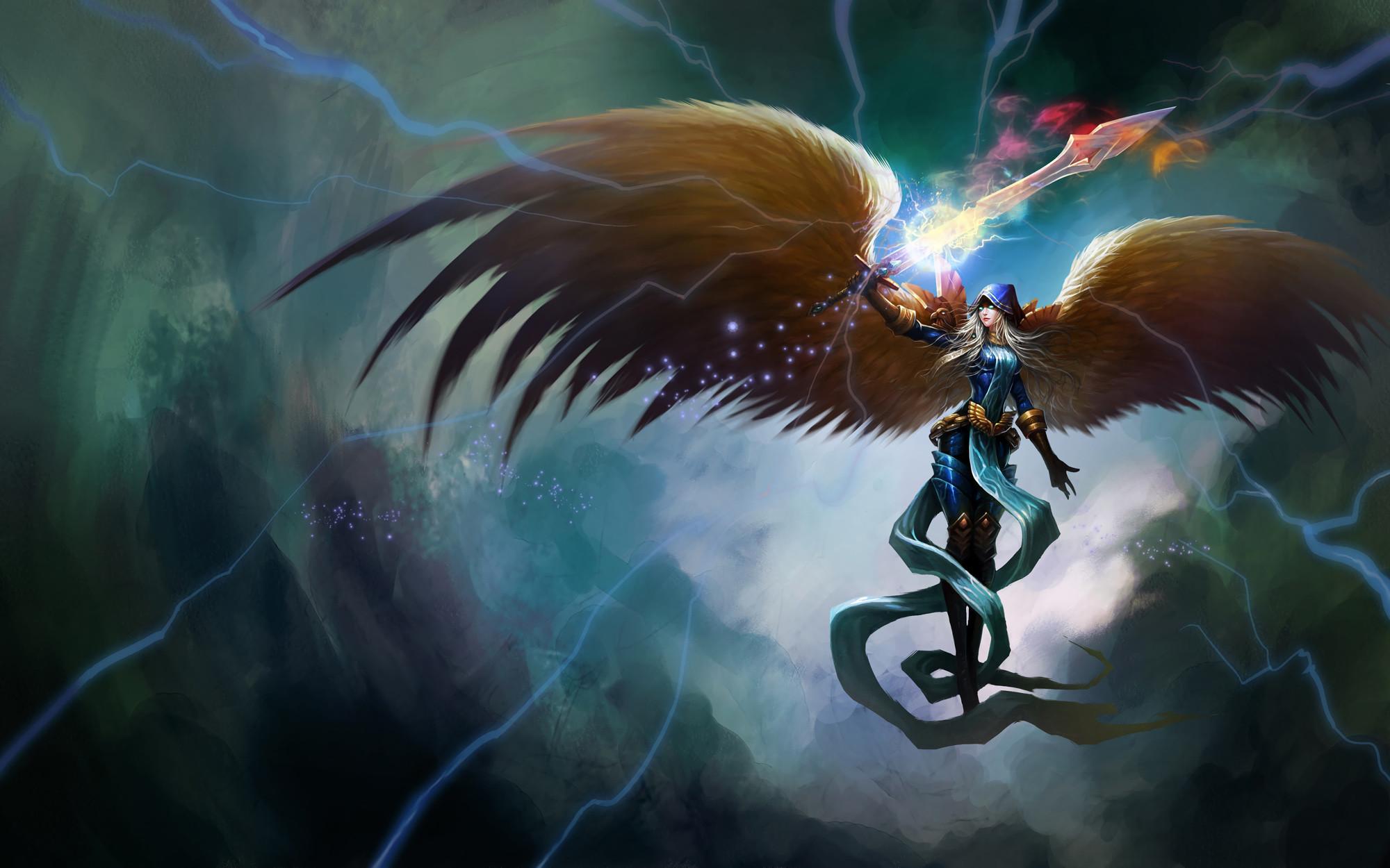 Judgement Kayle by wands96 HD Wallpaper Fan Art Artwork League of Legends  lol