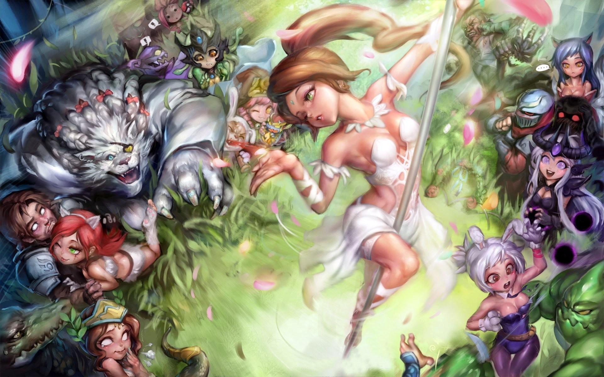 League of Legends Monster Warrior Ahri Nidalee Rengar Skarner Games Girls  Fantasy wallpaper