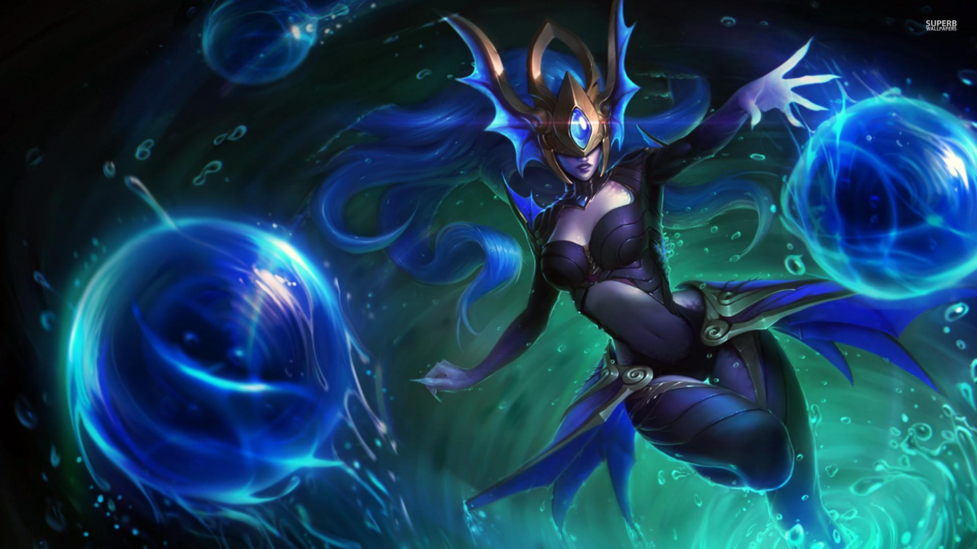 Atlantean Syndra – League of Legends wallpaper