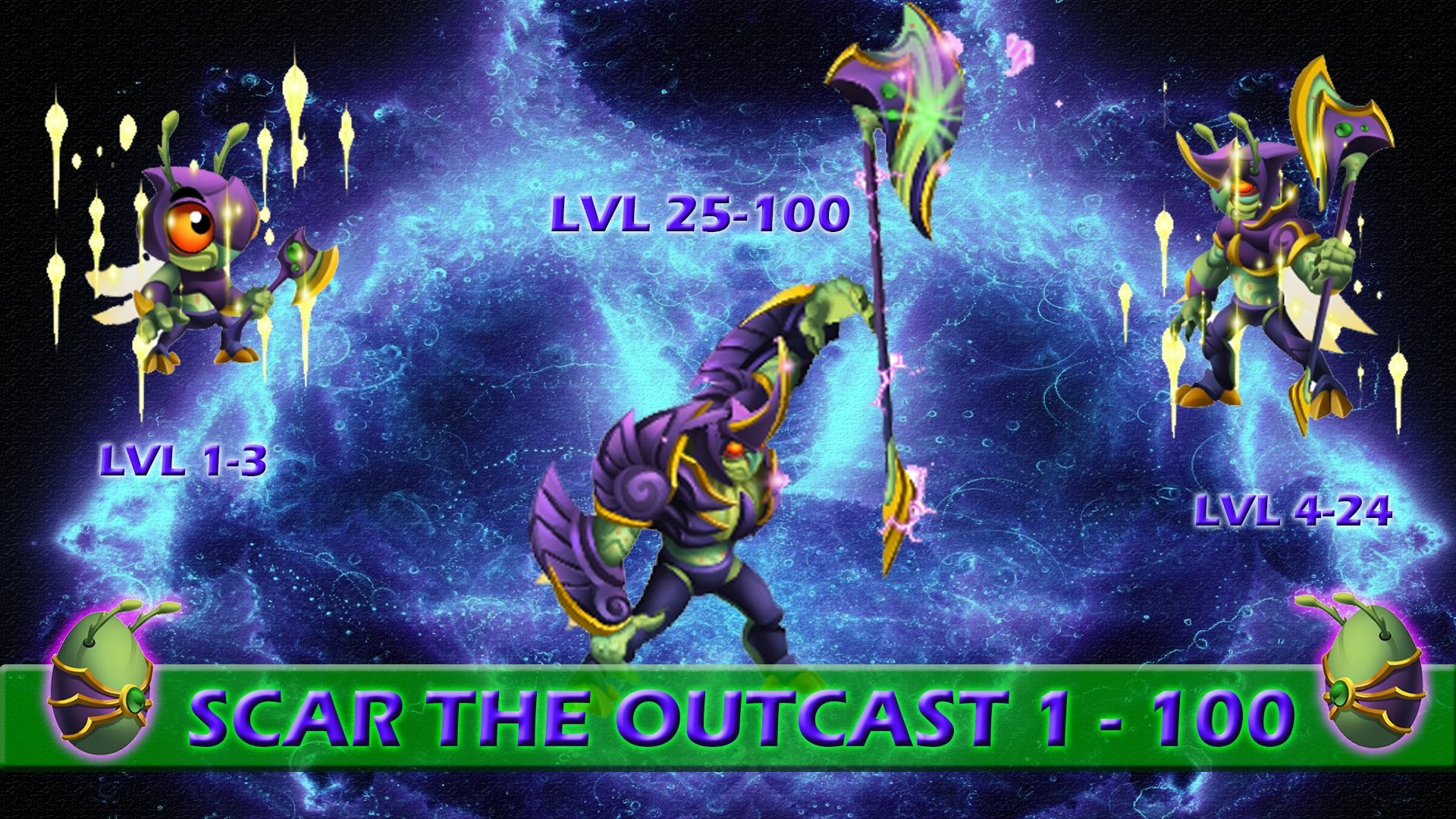 Monster Legends | Scar the outcast 1 – 100 + combate | Monster VIP