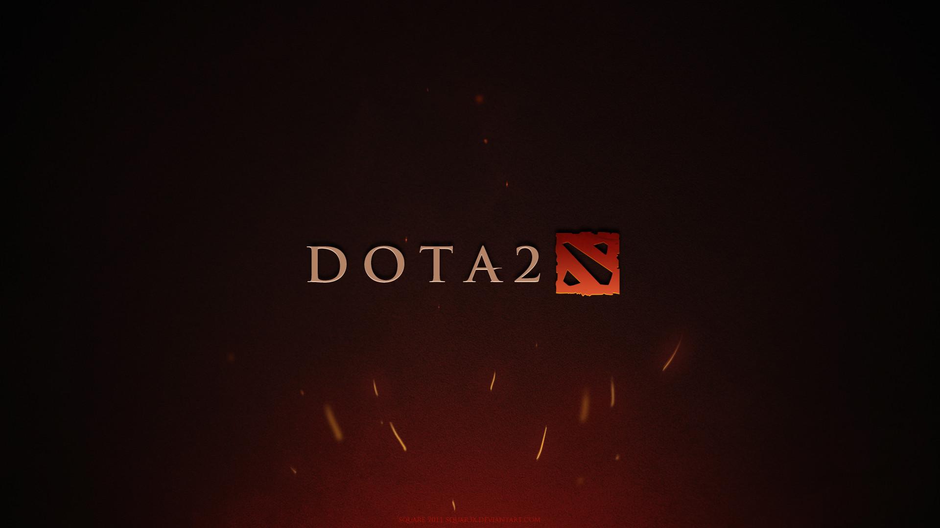 Preview wallpaper dota 2, game, logo, background 1920×1080