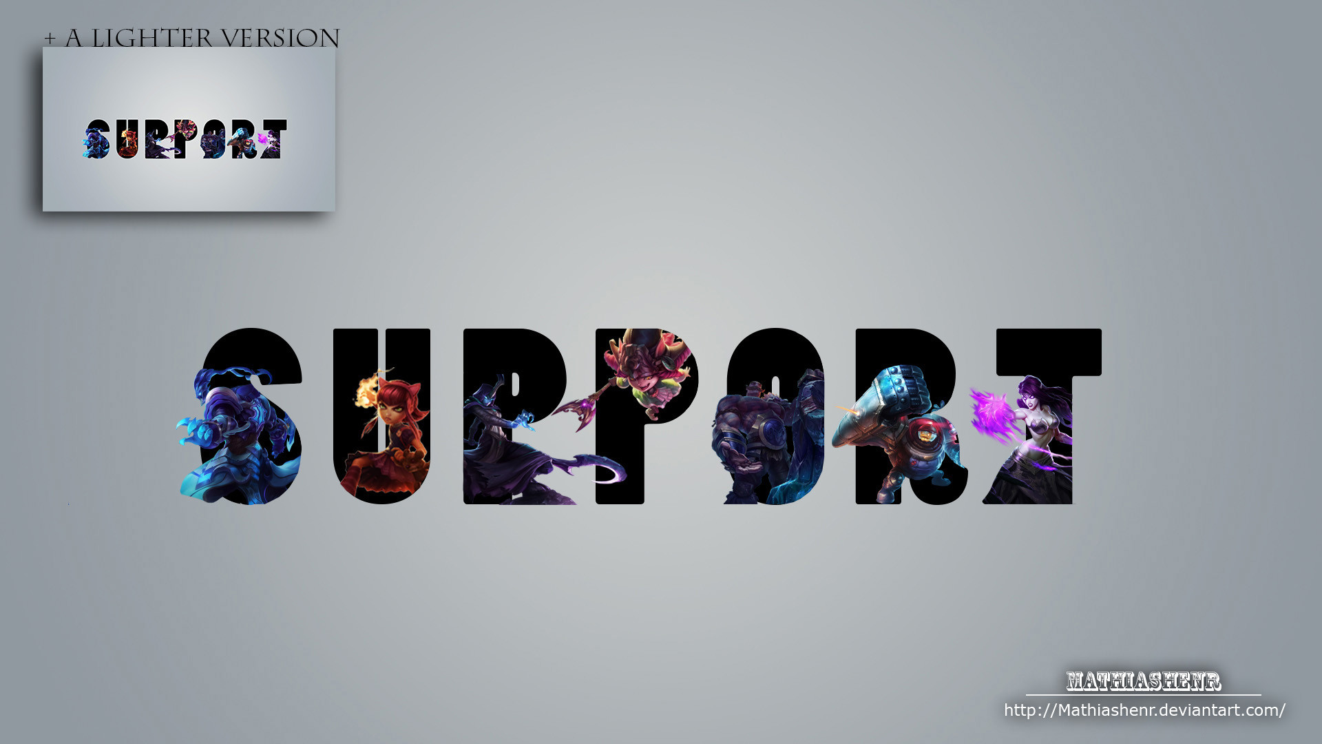 League of Legends SUPPORT WALLPAPER by Mathiashenr League of Legends  SUPPORT WALLPAPER by Mathiashenr