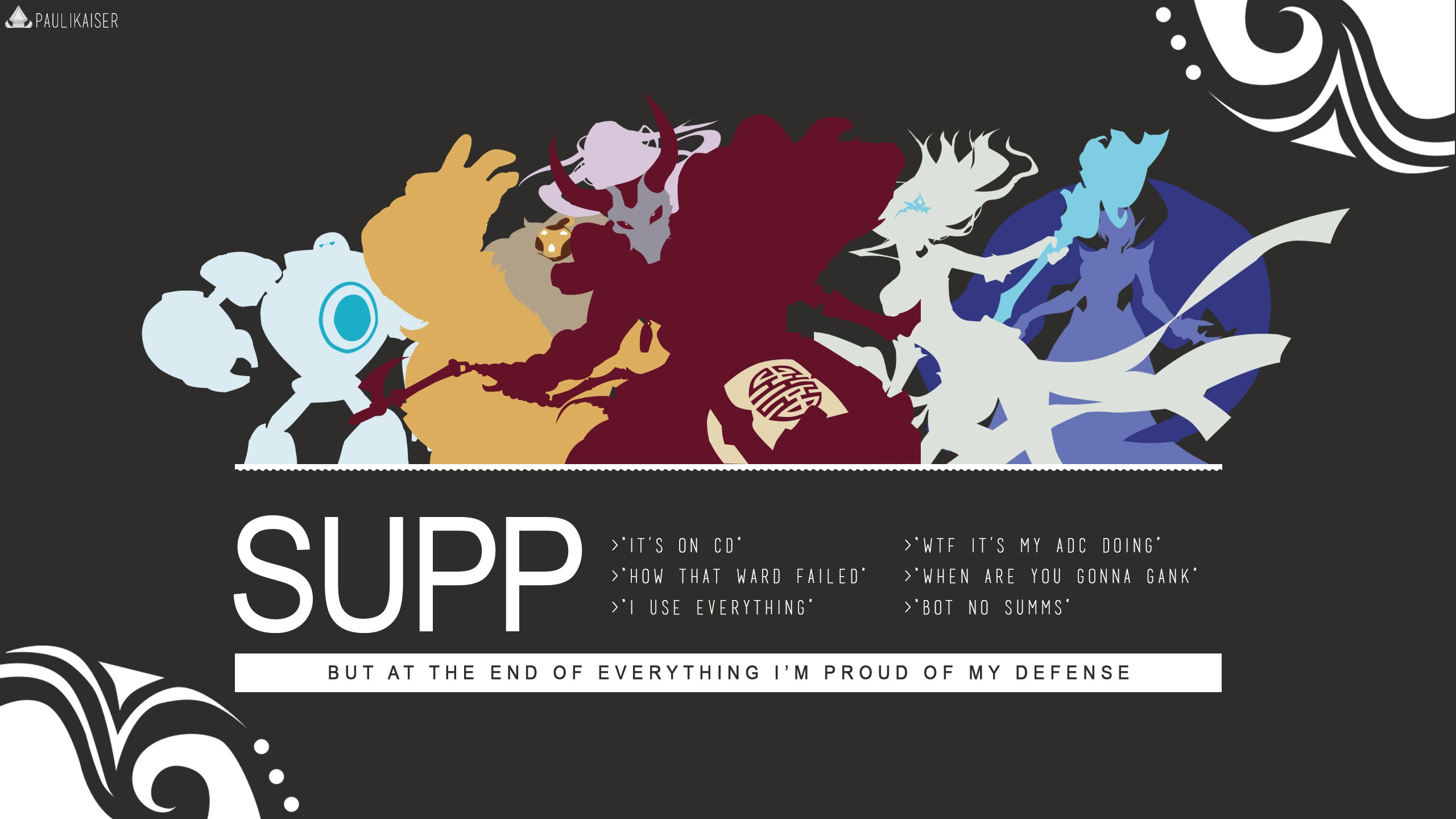 Support by Paulikaiser (1) HD Wallpaper Fan Art Artwork League of Legends  lol