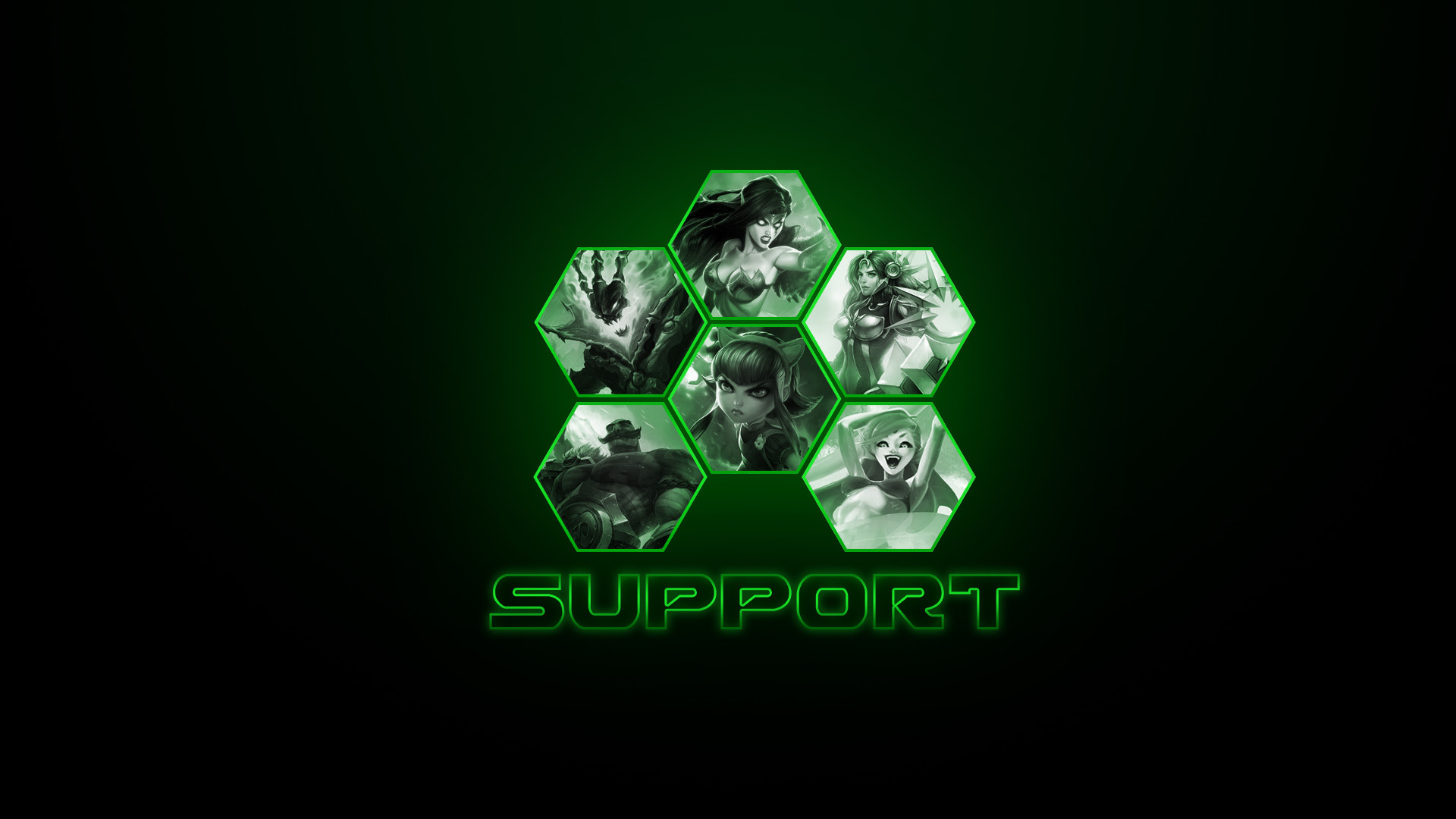 … Support League of Legends Wallpaper (Season 4) by VyxisPrime