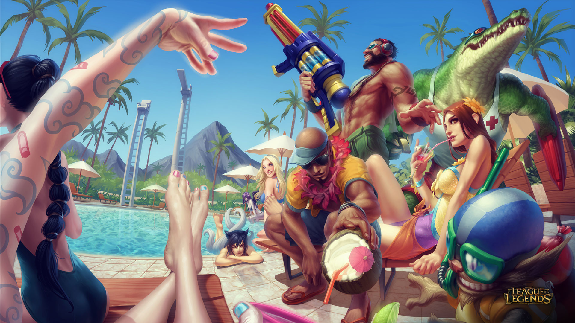 Pool Party · Wallpaper