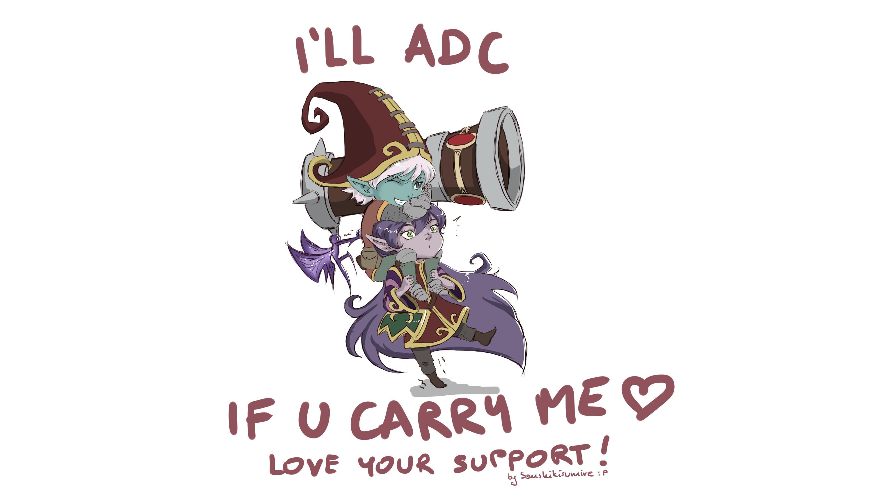 Tristana & Lulu (ADC & Support) by Sanshikisumire HD Wallpaper Fan Art  Artwork League