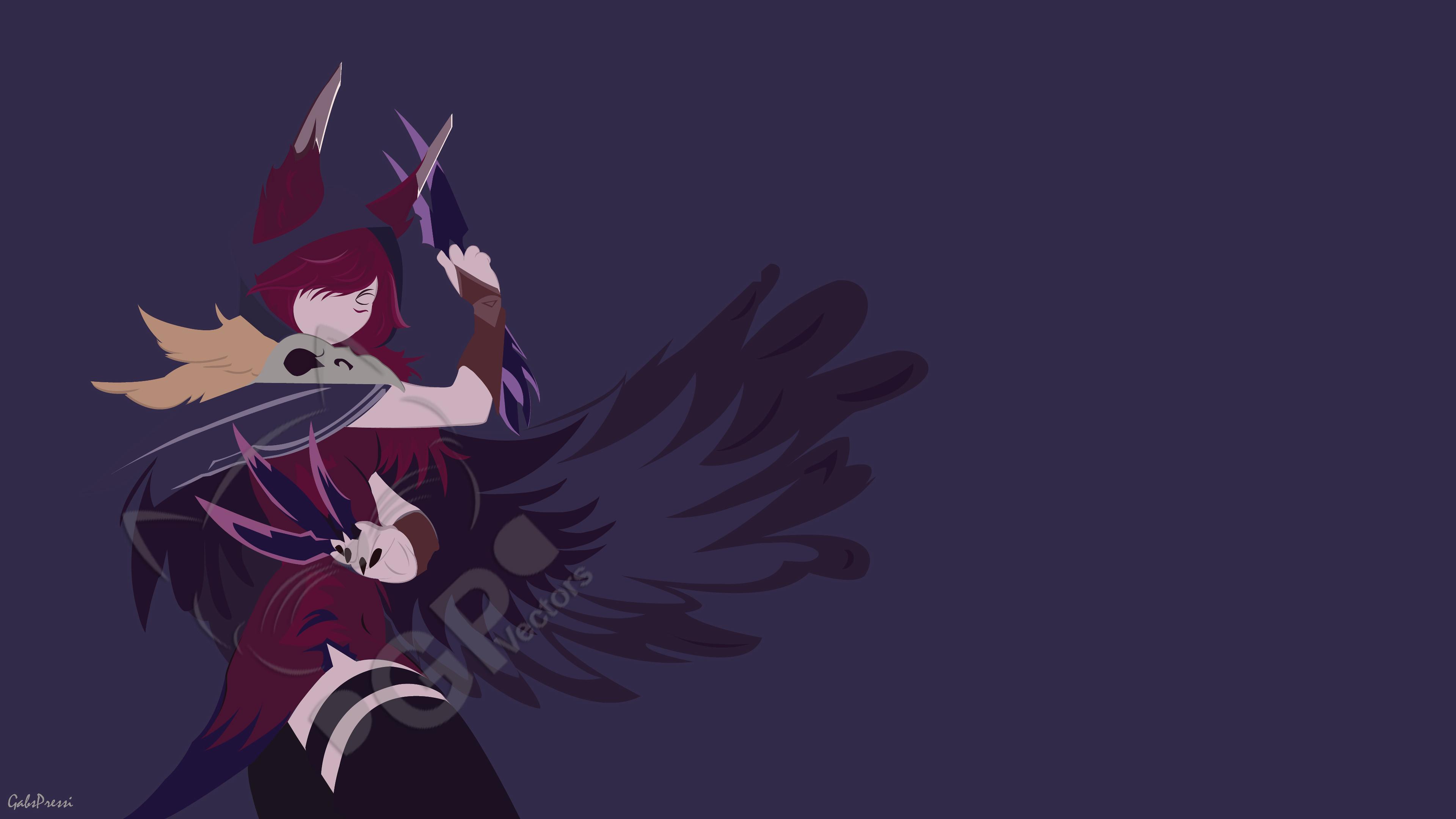 Xayah Minimalist by gabslikethese HD Wallpaper Background Fan Art Artwork League  of Legends lol