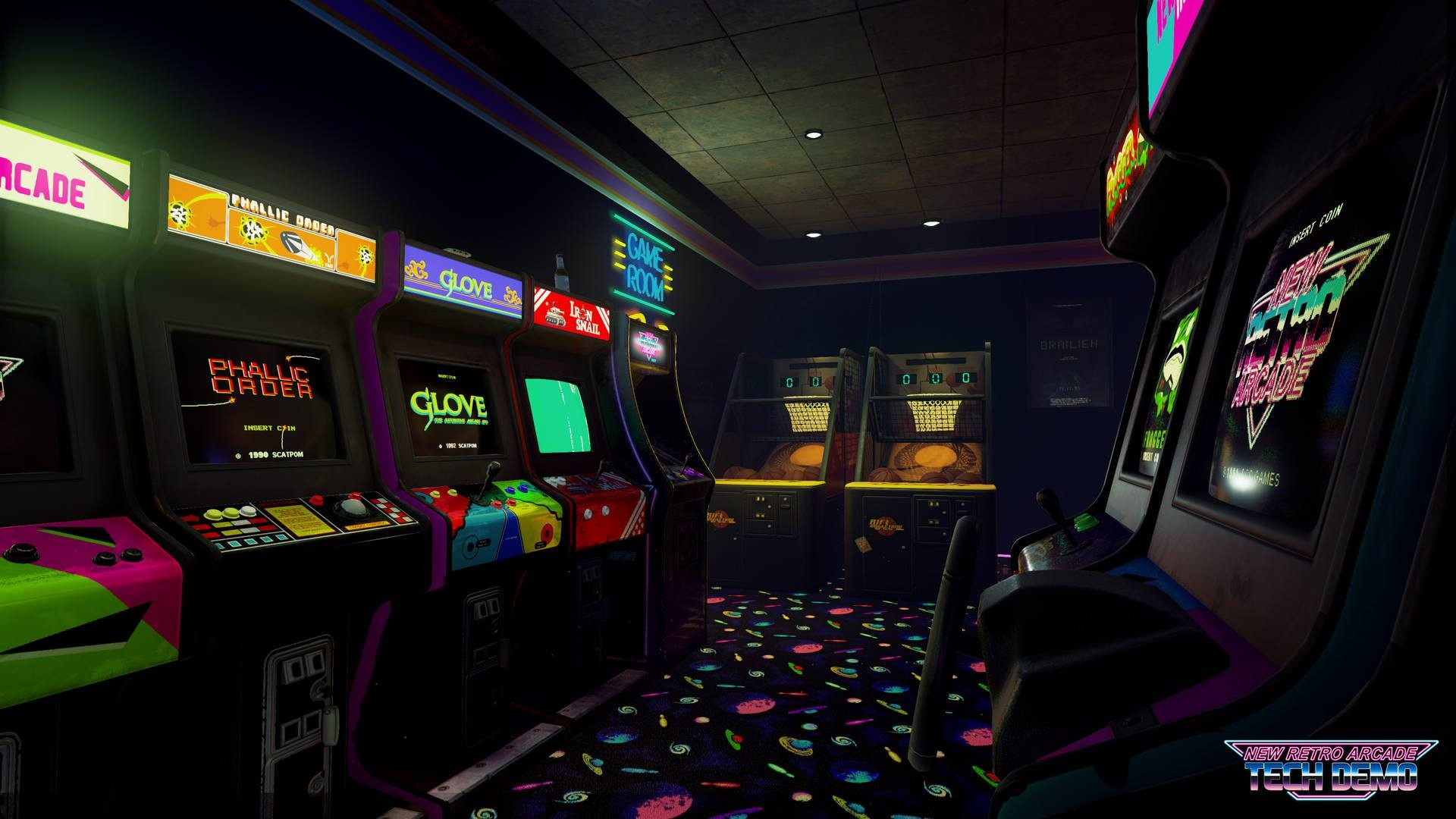 Hands-on: 'New Retro Arcade' Tech Demo HTC Vive Gameplay .