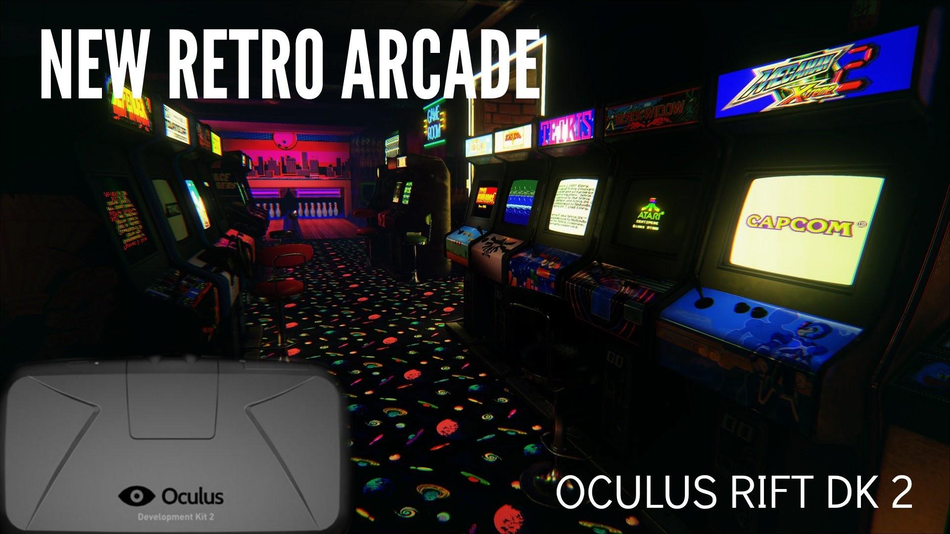 NEW RETRO ARCADE (Oculus Rift Dk2) Your very own arcade hall – Gameplay