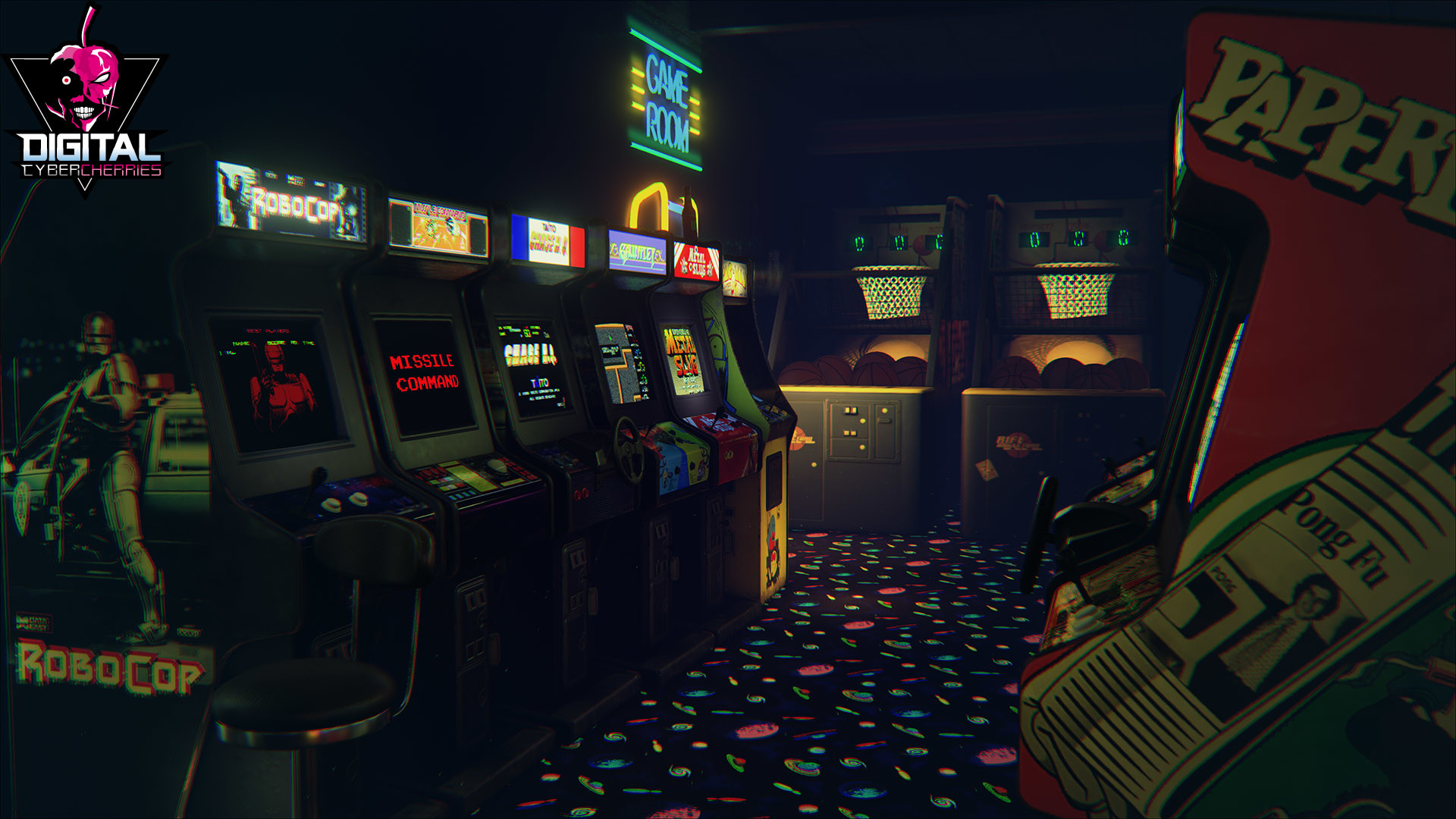 Playable retro arcade via Unreal 4 tech… Literally the best thing ever.  Unreal 4 is free, so there's no reason why you shouldn't be there wasting  time. …