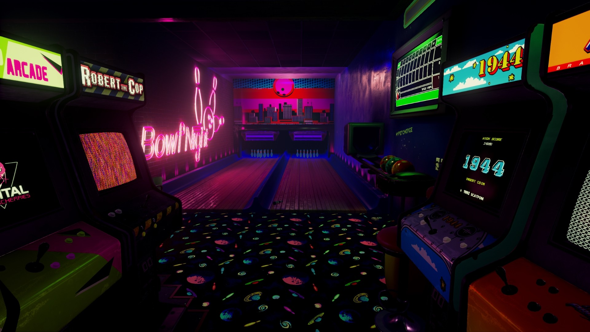 New-Retro-Arcade-Neon-4.jpg (1920×1080)   Neon nights   Pinterest   Pc game  reviews