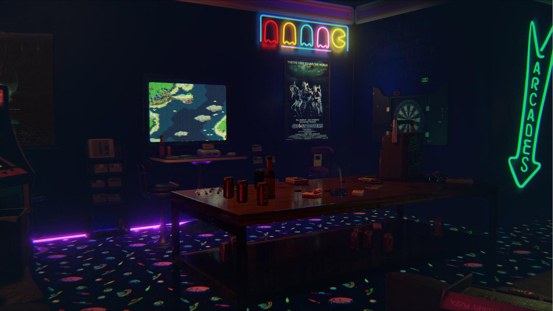 xs1sdog0n1t5nrtyn8ny.jpg (1920×1080)   The Retrowave Arcade   Pinterest    Player one, Last night and Ready player one movie