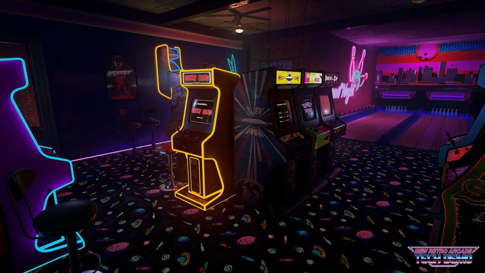 'New Retro Arcade' …