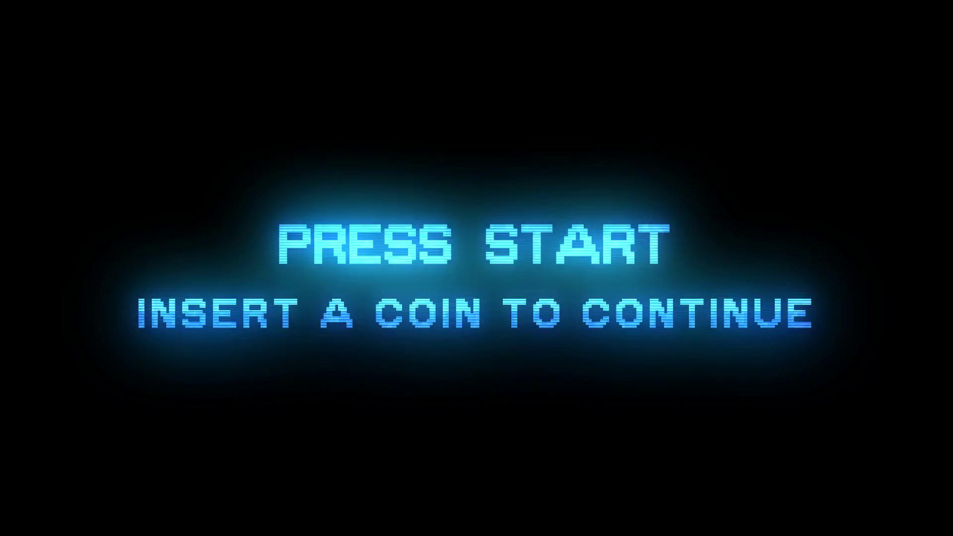 PRESS START – INSERT A COIN TO CONTINUE – RETRO ARCADE style 1 Motion  Background – VideoBlocks