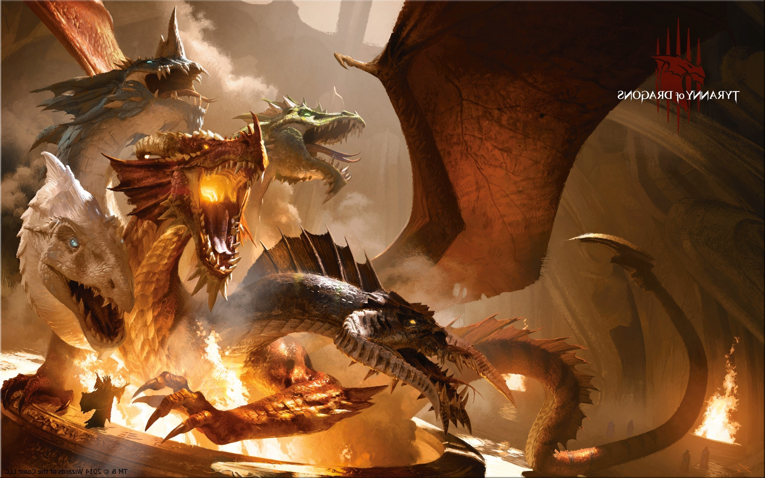 dragon, Dungeons And Dragons, Artwork, Fantasy Art, Tiamat Wallpapers HD /  Desktop and Mobile Backgrounds