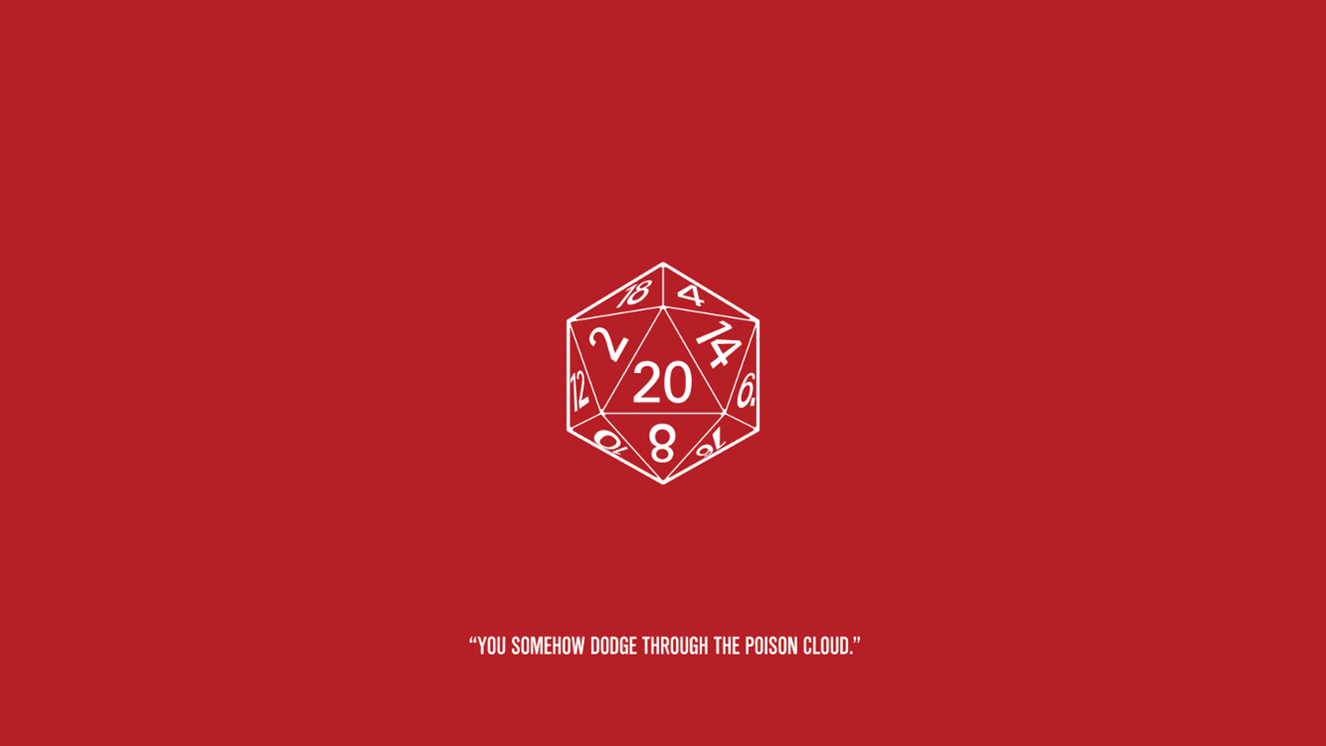 General Dungeons and Dragons humor d20 red background simple  background