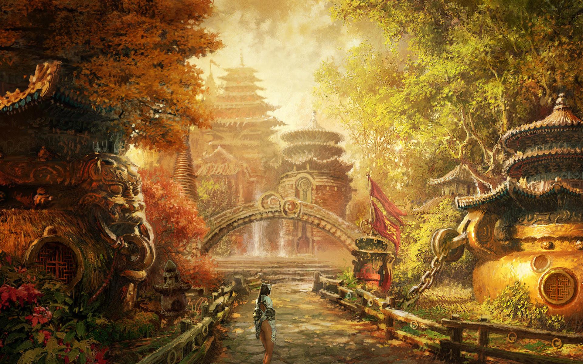 Lodge somewere in Kara-Tur #rpg #d&d #dnd #fantasy #forgotten_realms
