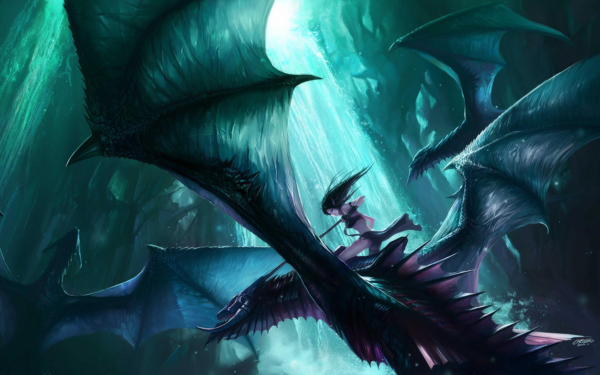 Red Dragon wallpapers women | dragon rider Wallpaper Background | 26623