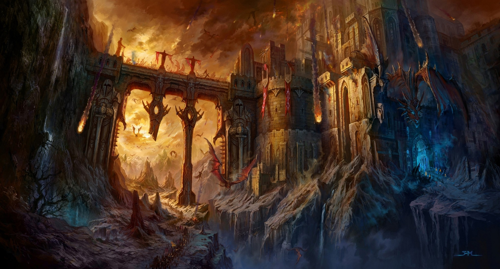 orc fortress wallpaper – Google Search