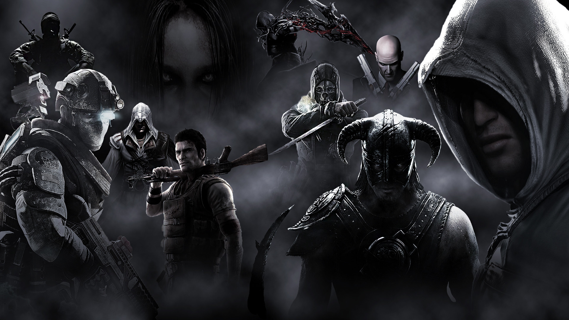 Video Game – Collage Altair Skyrim Farcry Ezio Wallpaper