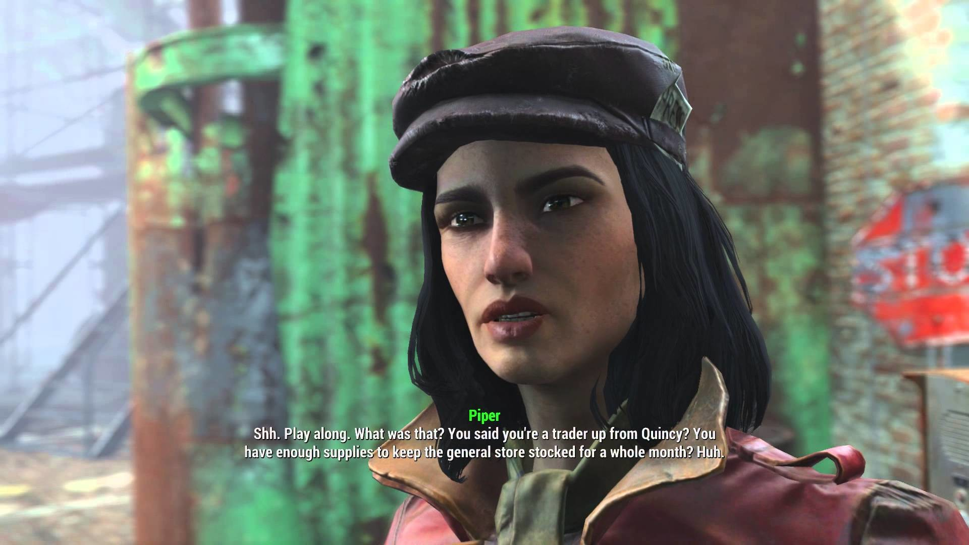 """Fallout 4 – Jewel of the Commonwealth: Piper Wright Introduction """"Play  Along"""" at Gate Dialogue Tree – YouTube"""