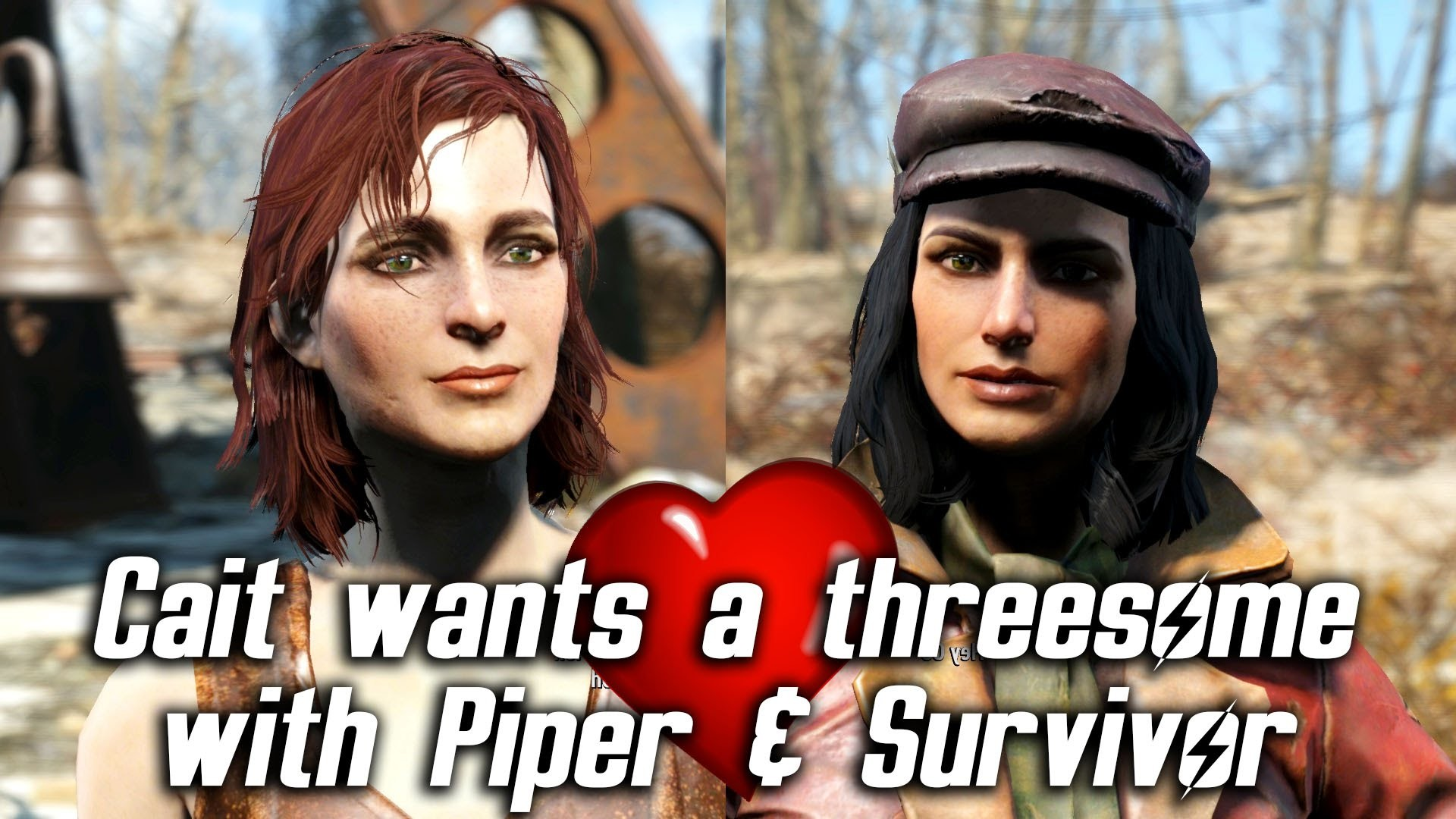 Fallout 4 – Cait wants a threesome with Piper & Sole Survivor – YouTube