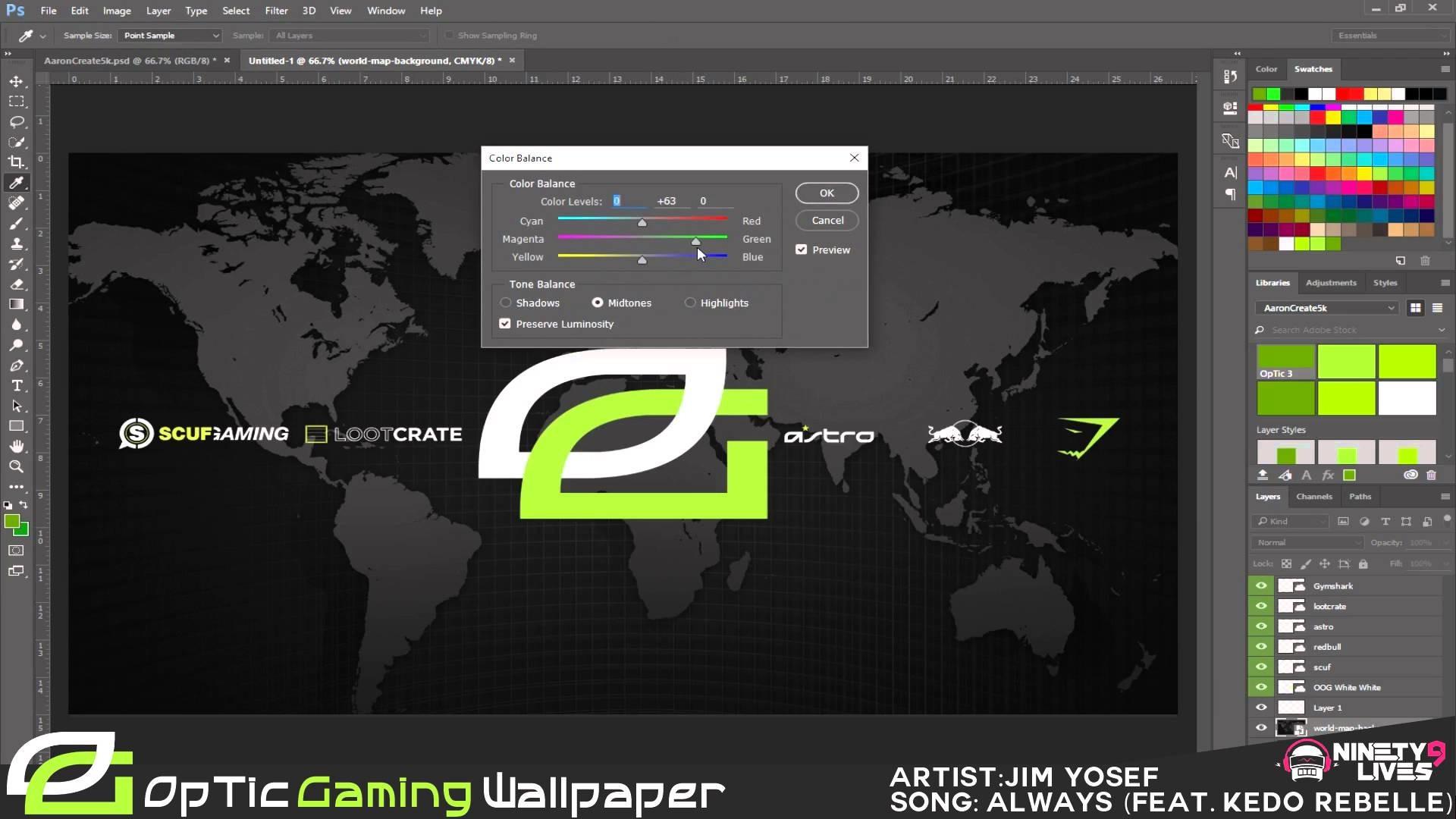 Speed Art | OpTic Gaming Wallpaper