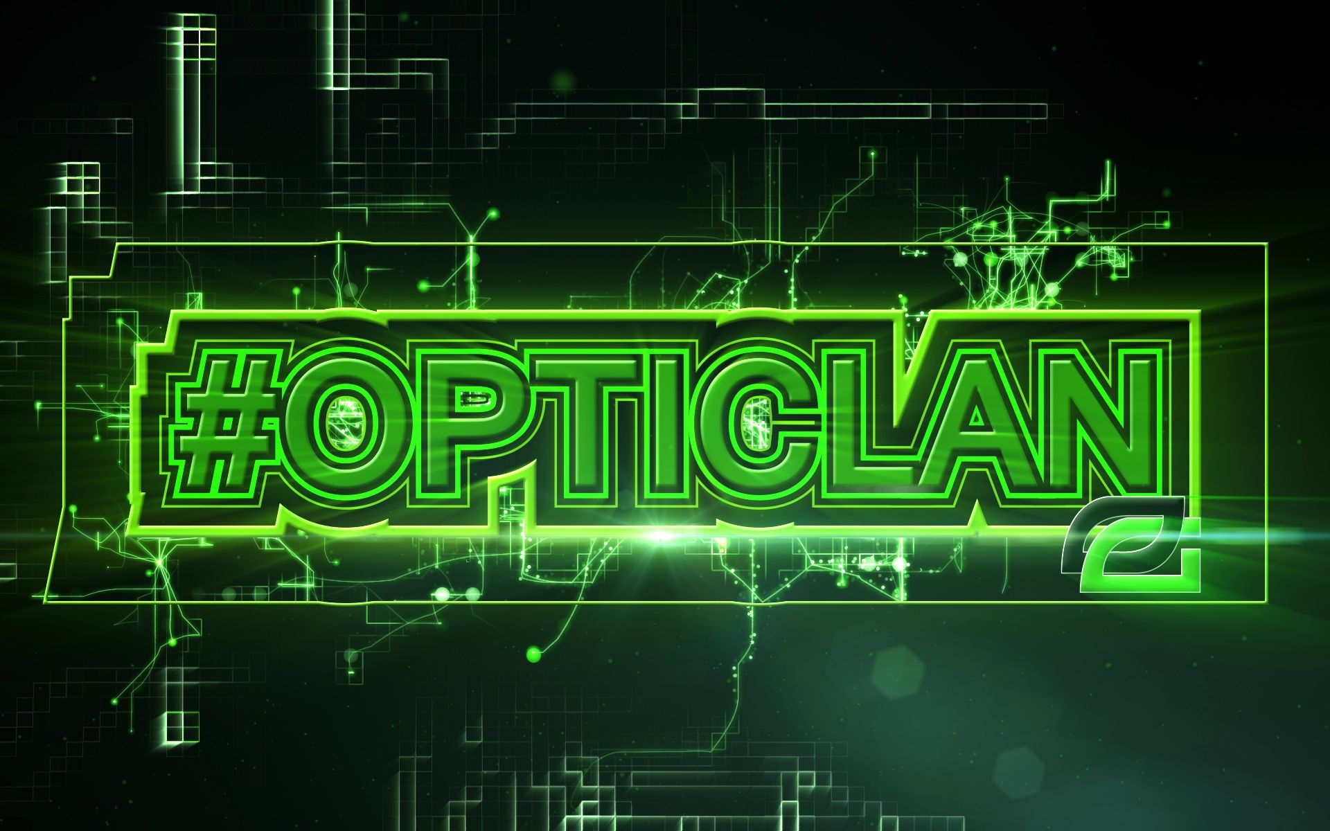 #OpTicLan. Wallpaper for support of OpTic Gaming Organisation.