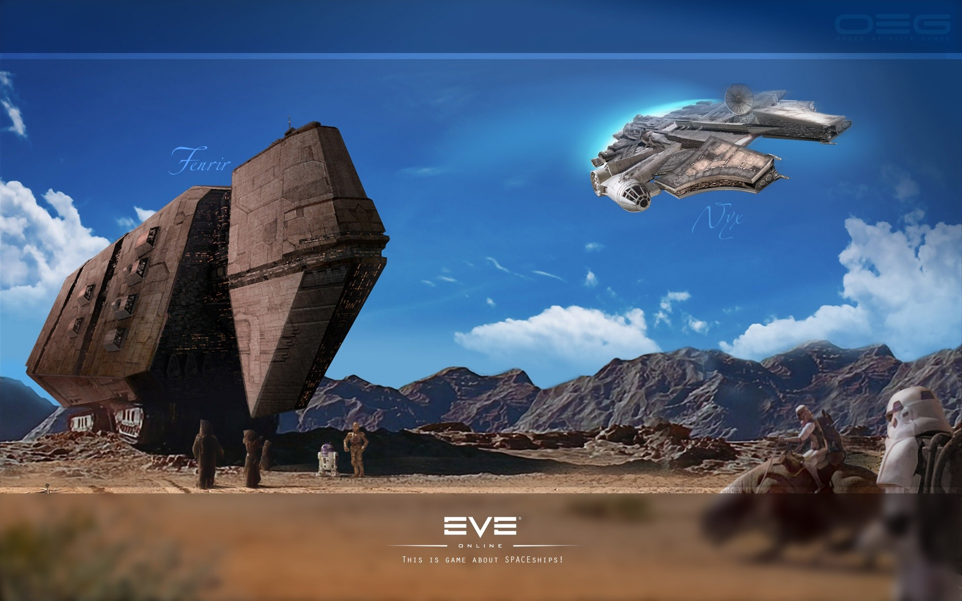 Googled Eve Online Backgrounds, was not dissapointed …