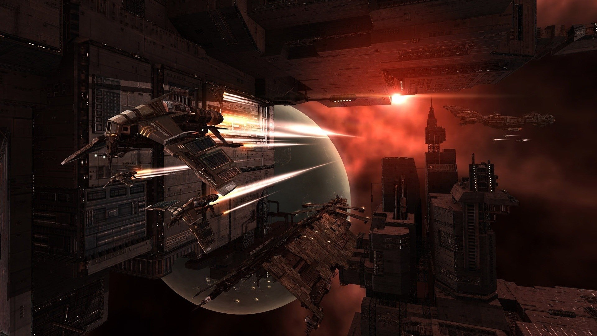 Video Game – EVE Online Sci Fi Spaceship Space Station Wallpaper