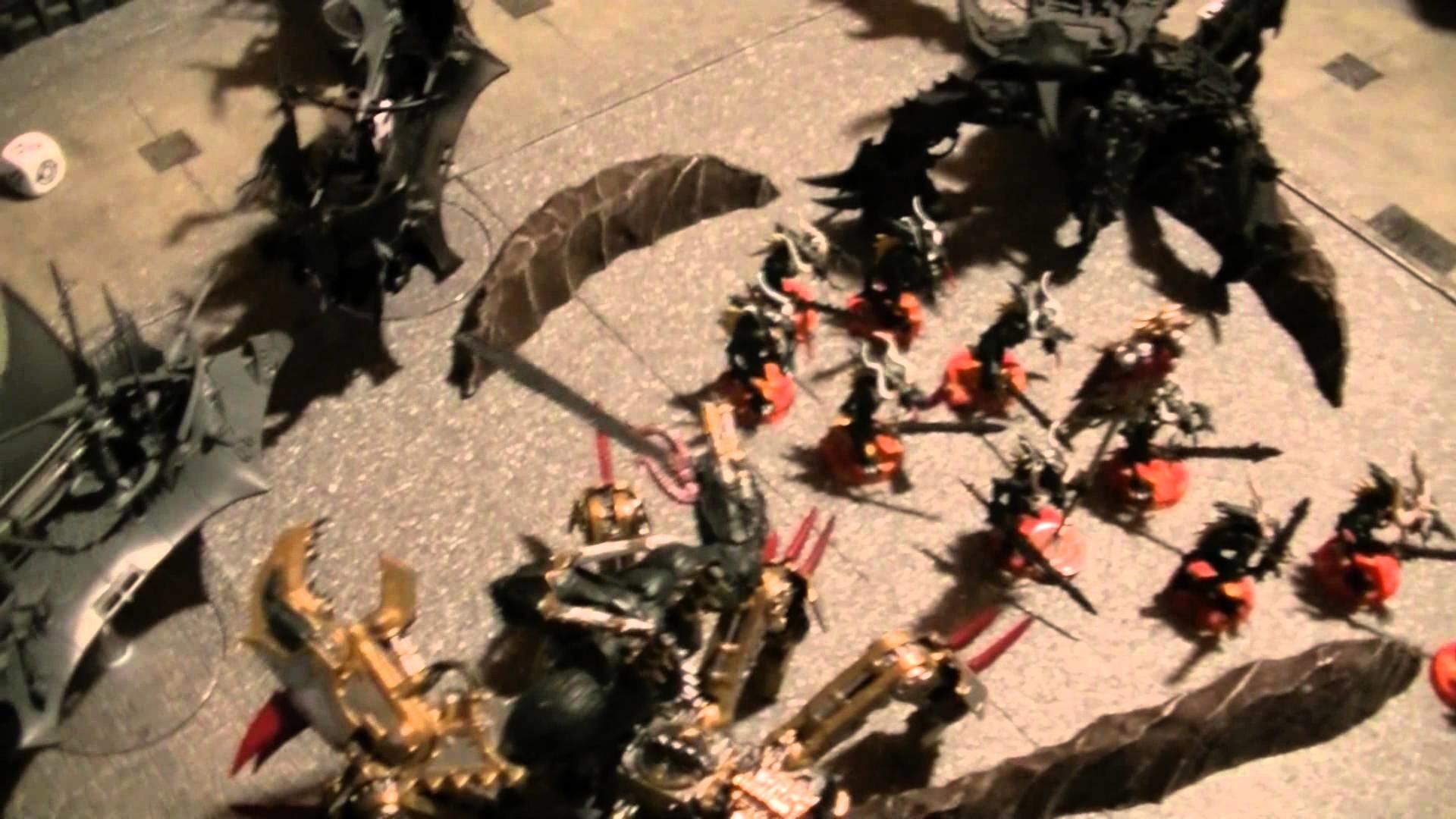 WH40K 2000 points: Chaos Daemons VS Dark Eldar