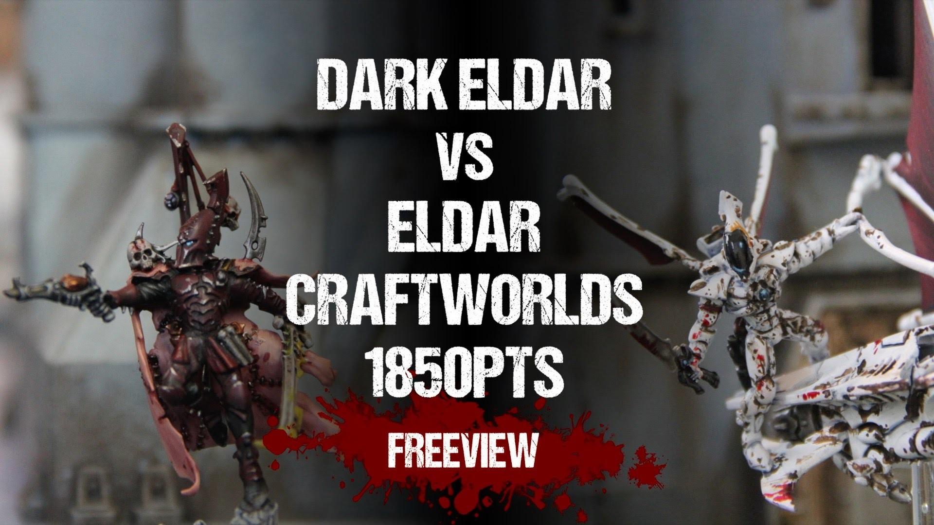 Warhammer 40,000 Battle Report: Dark Eldar vs Eldar Craftworlds 1850pts –  YouTube