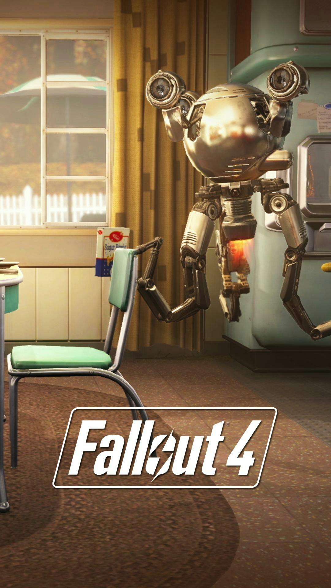 Fallout 4 Mr gutsy robot mobile phone wallpaper