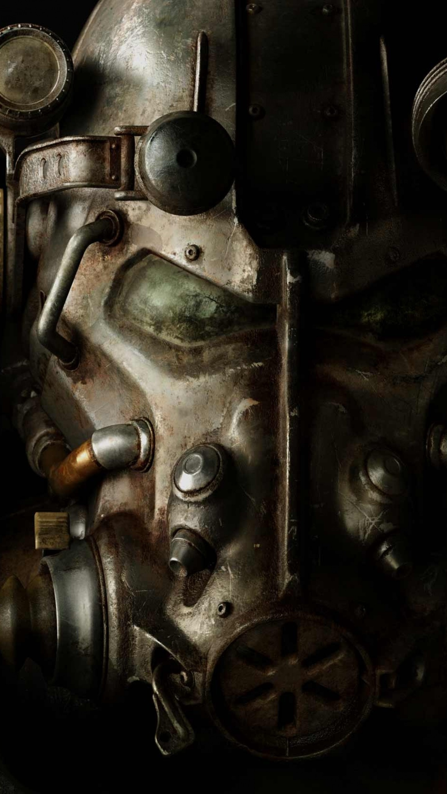 Preview wallpaper fallout 4, paladin, armor, helmet 1440×2560