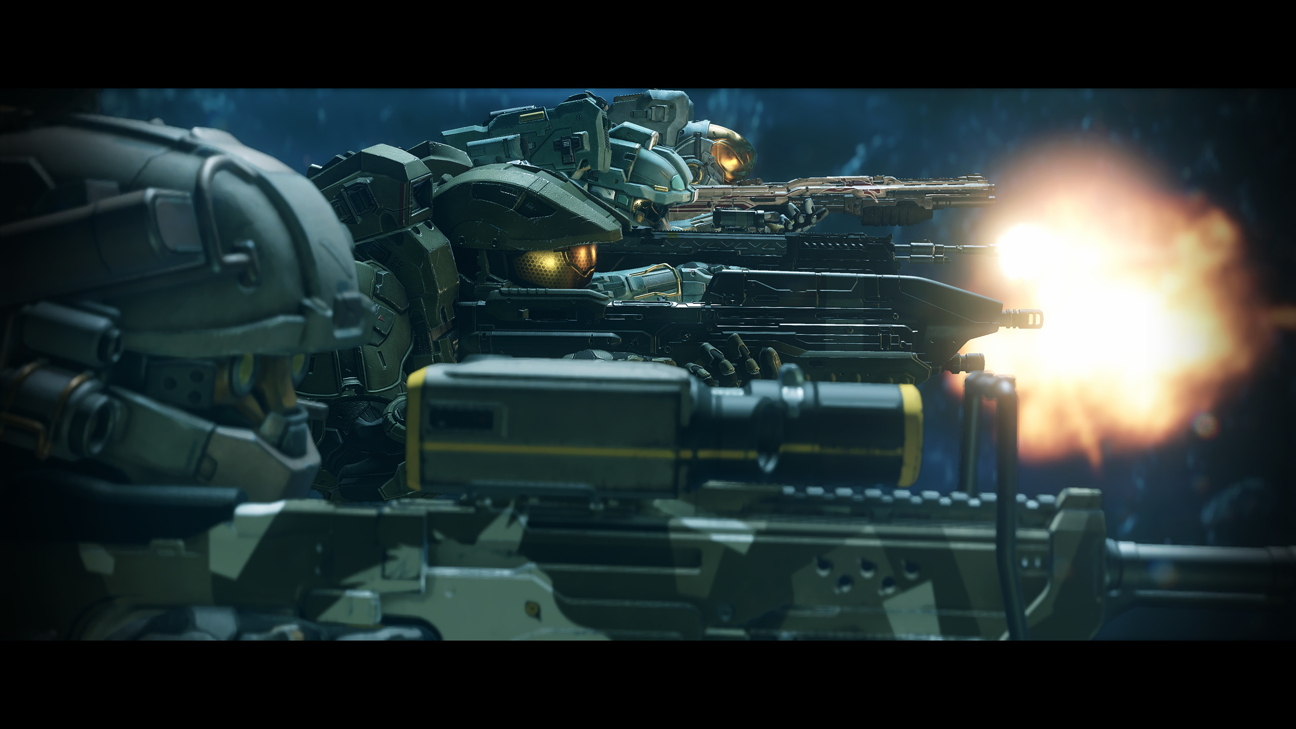 Opening Cinematic for Halo 5: Guardians Mission 2 Blue Team.  H5G-Cinematic-Firing-Line-jpg