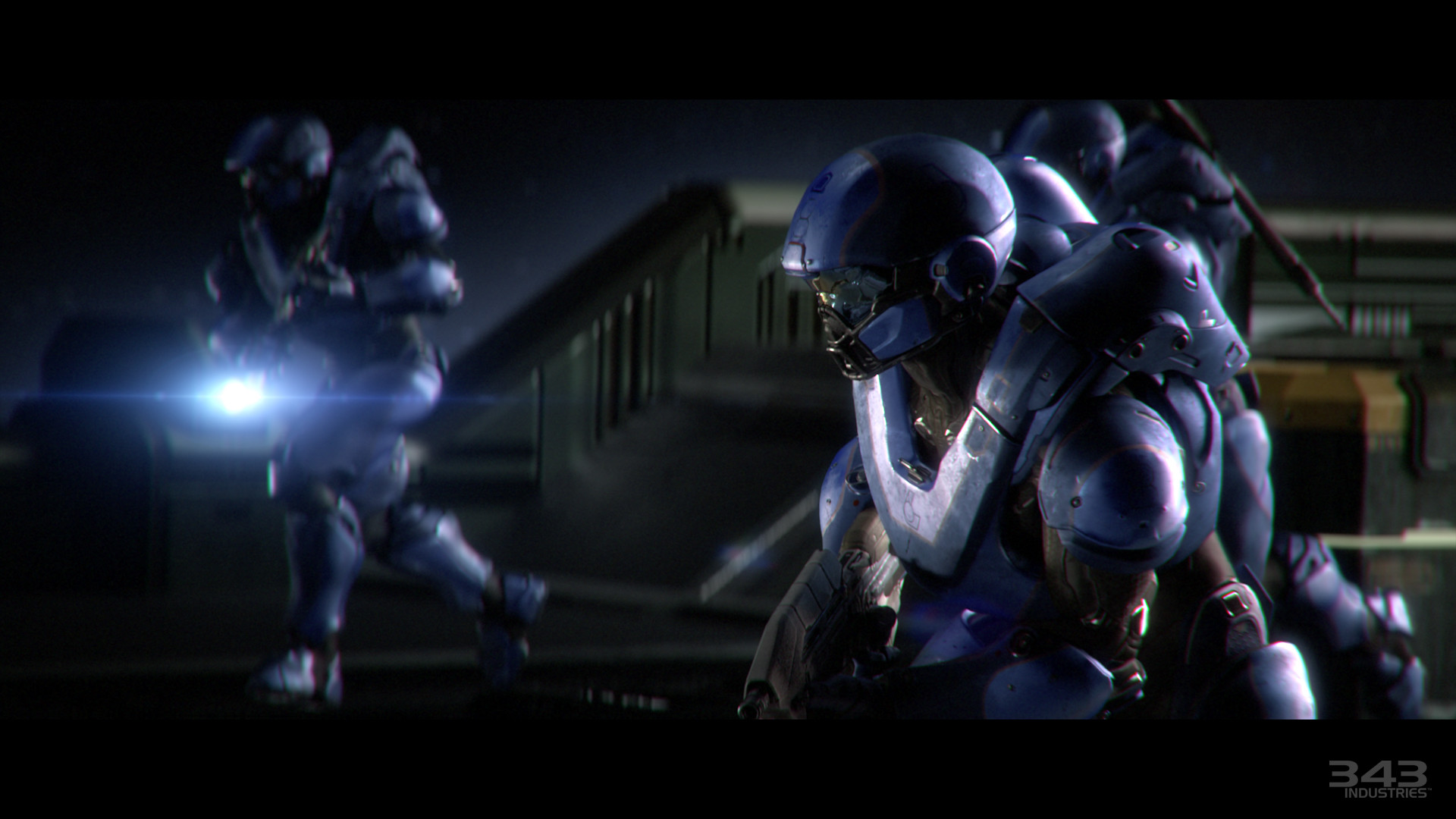 Training armour – Clearly has Halo 4 design elements, though leans a little  more towards the other styles