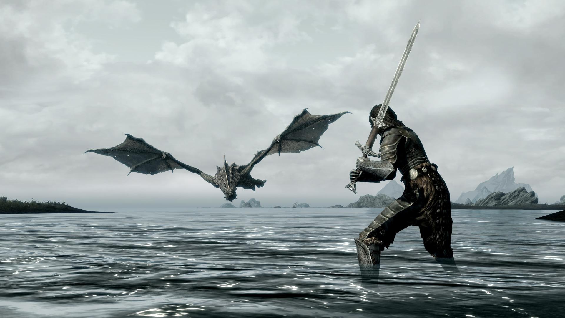 Skyrim Dragon Wallpaper 43914