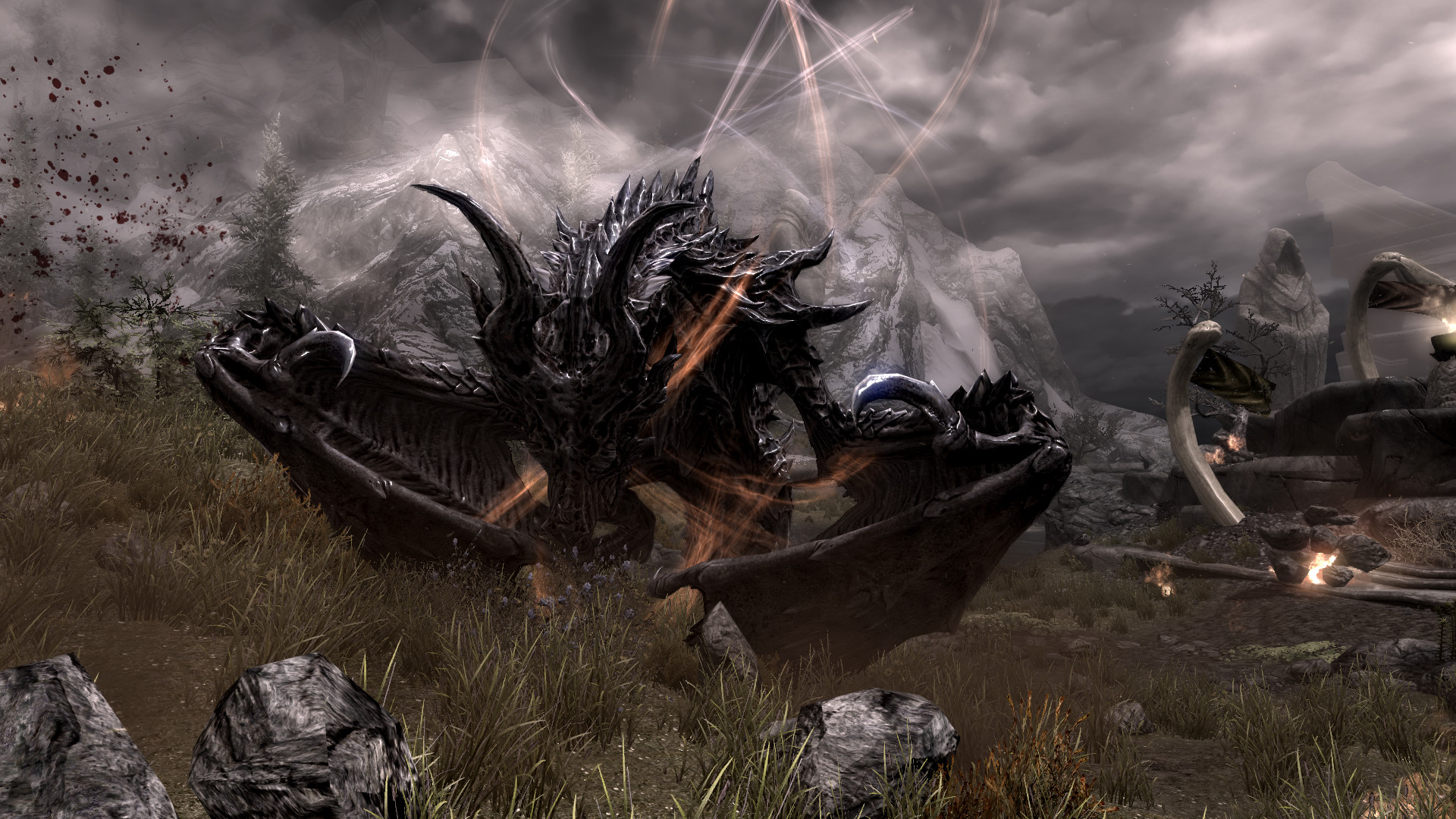 Skyrim Dragon Wallpaper Hd Images & Pictures – Becuo HTML .