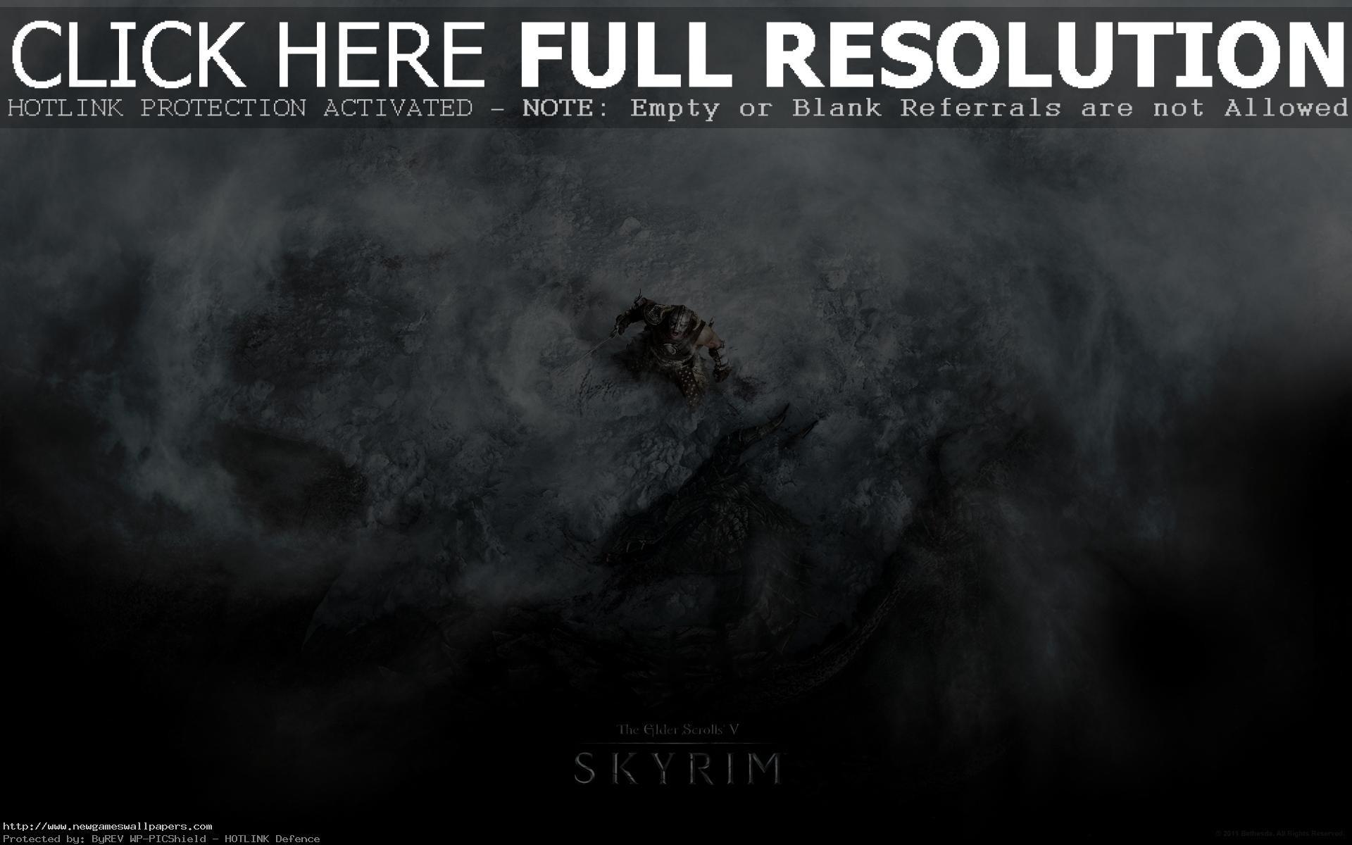 Skyrim Dragon Shout Desktop Wallpaper