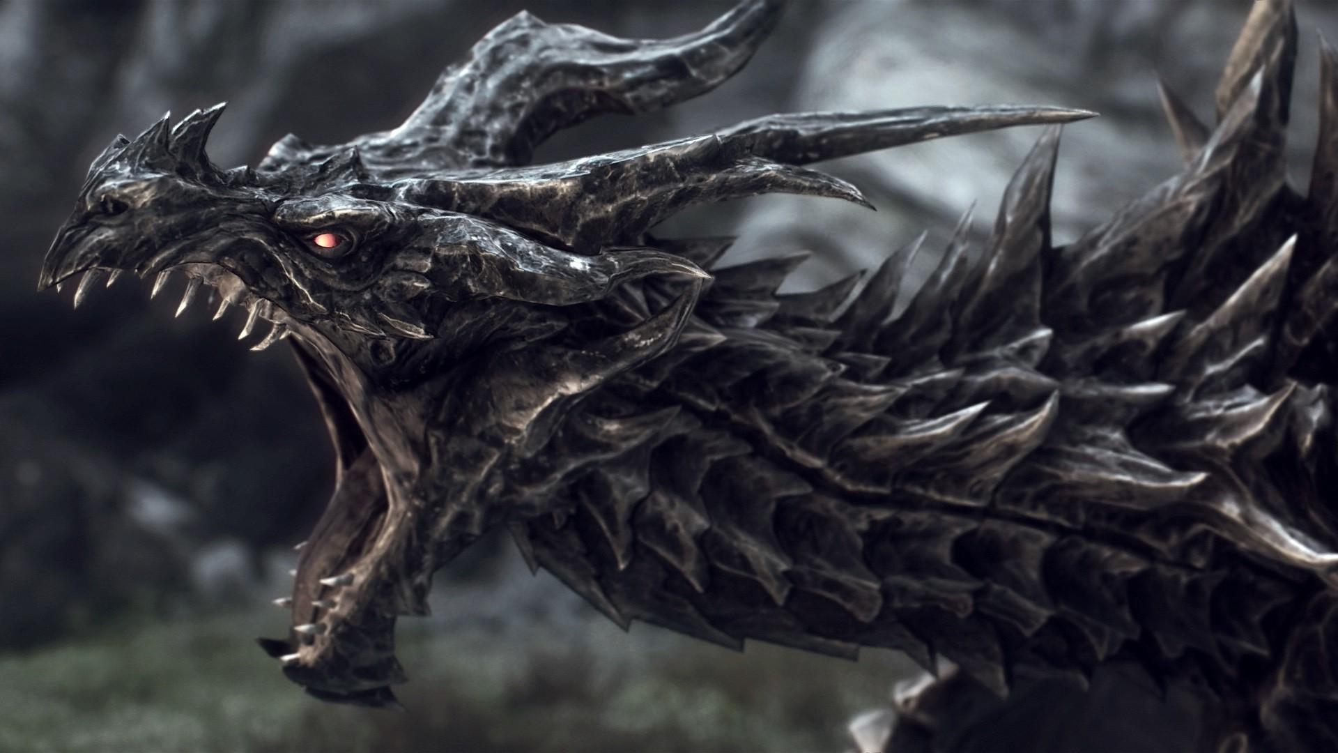 dragon, Fantasy Art, Digital Art, The Elder Scrolls, The Elder Scrolls V:  Skyrim, Alduin Wallpapers HD / Desktop and Mobile Backgrounds