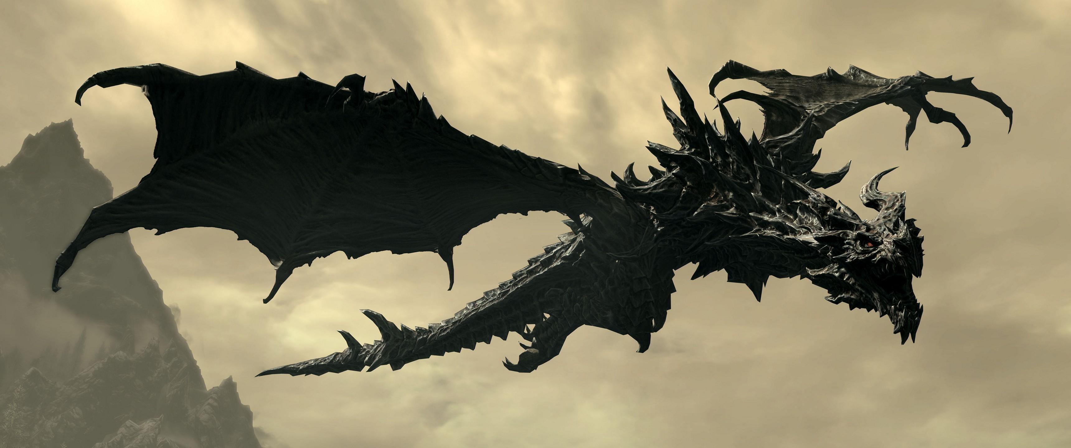 Alduin, Video Games, The Elder Scrolls V: Skyrim, Dragon Wallpapers HD /  Desktop and Mobile Backgrounds